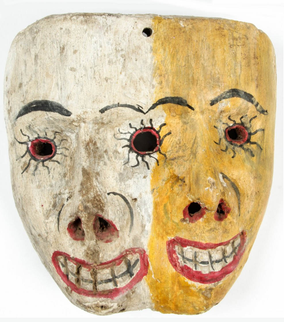 Mexic Wood MAsk Folk Art