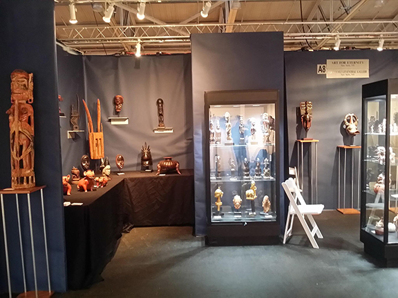 Art for Eternity booth at the 2017 San Francisco Tribal Fair