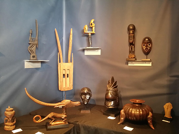 Figurative Objects on Display at Art for Eternity booth at the 2017 San Francisco Tribal Fair