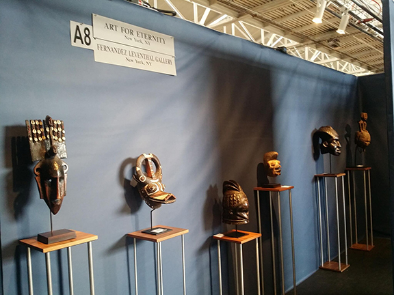 Masks on Display at the Art for Eternity booth at the 2017 San Francisco Tribal Fair